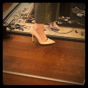 Pink zara velvet heels